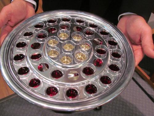 a w communion tray